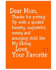 Dear Mom Poster 11x17 Poster front