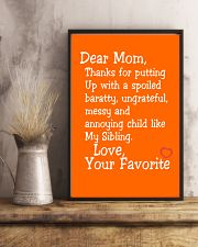 Dear Mom Poster 11x17 Poster lifestyle-poster-3