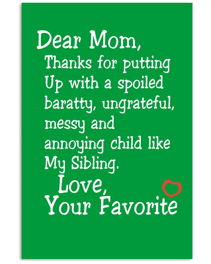 Dear Mom Poster 16x24 Poster