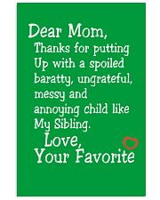 Dear Mom Poster 16x24 Poster front