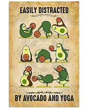 Easily Distracted By Avocado And Yoga 11x17 Poster front