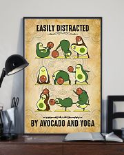 Easily Distracted By Avocado And Yoga 11x17 Poster lifestyle-poster-2