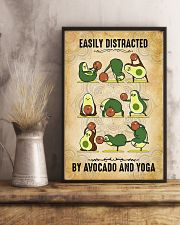 Easily Distracted By Avocado And Yoga 11x17 Poster lifestyle-poster-3