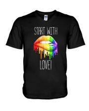 Start With Love V-Neck T-Shirt thumbnail