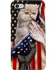 Love Exotic Shorthair Cat United State Flag Phone Case i-phone-8-case