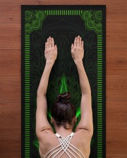 420 Green Leaf Yoga Mat 24x70 (vertical) aos-yoga-mat-lifestyle-23