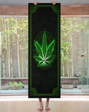 420 Green Leaf Yoga Mat 24x70 (vertical) aos-yoga-mat-lifestyle-27