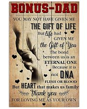 Bonus Dad - Thank You For Loving Me As Your Own 11x17 Poster front