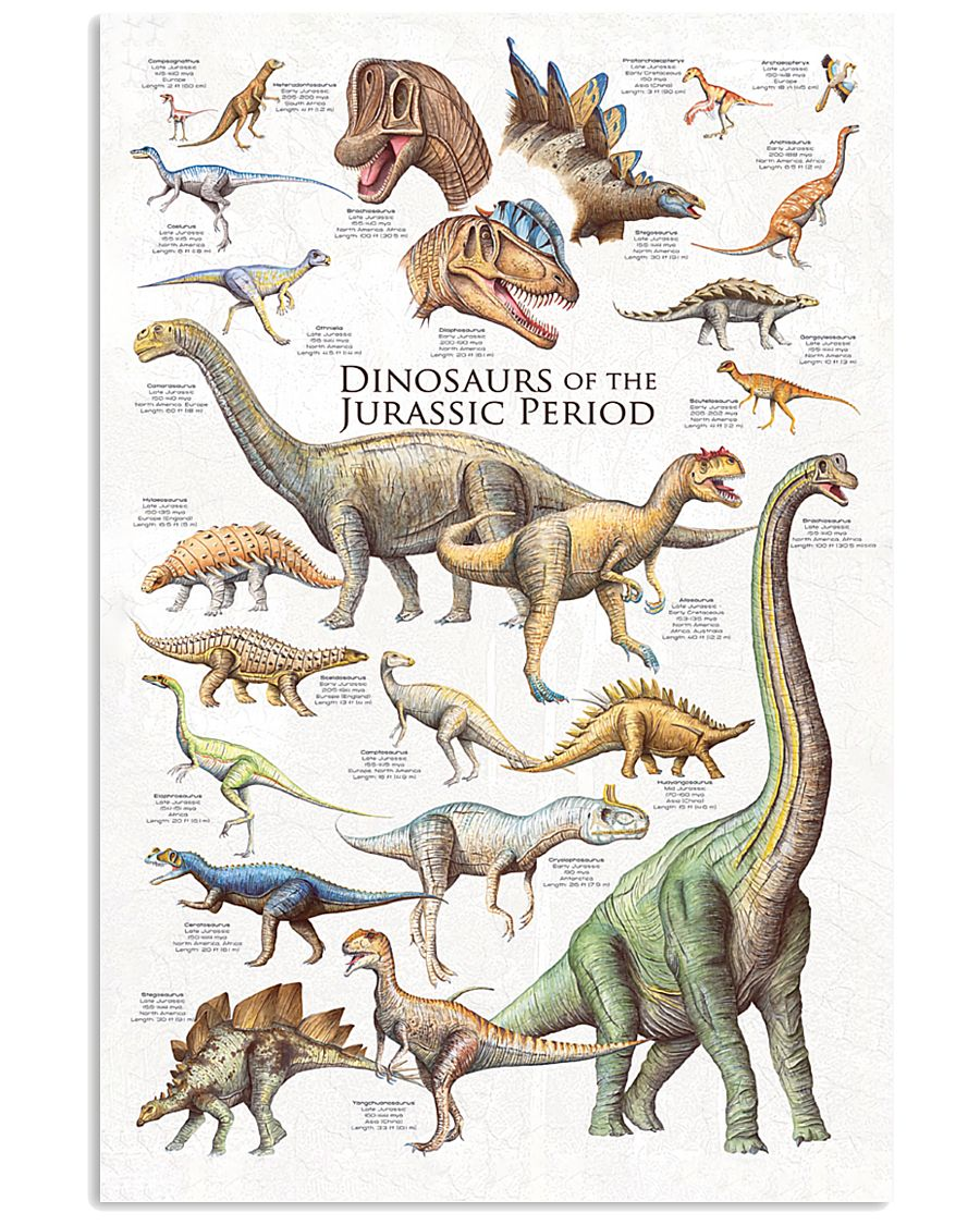 Dinosaurs Of The Jurassic Period 11x17 Poster