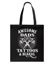 Awesome Dads Have Tattoos And Beards  Tote Bag thumbnail
