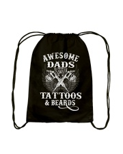 Awesome Dads Have Tattoos And Beards  Drawstring Bag thumbnail
