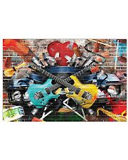 Guitar Color Brick 17x11 Poster front