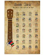 Basic Ukulele Chords Guitar 11x17 Poster front