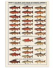 Trout Salmon And Char of North America 11x17 Poster front