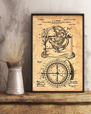 Nautical Compass Patent 11x17 Poster lifestyle-poster-3