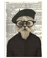 Funny Cat Vintage Dictionary Pages 11x17 Poster front