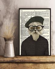 Funny Cat Vintage Dictionary Pages 11x17 Poster lifestyle-poster-3