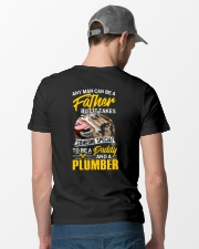 Daddy And A Plumber Classic T-Shirt lifestyle-mens-crewneck-back-6