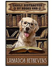 Easily Distracted By Books And Labrador Retrievers 11x17 Poster front