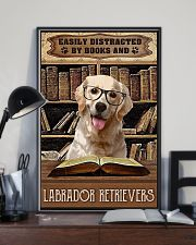 Easily Distracted By Books And Labrador Retrievers 11x17 Poster lifestyle-poster-2