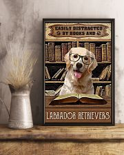 Easily Distracted By Books And Labrador Retrievers 11x17 Poster lifestyle-poster-3
