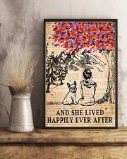 And She Lived Happily Ever After French Bulldog 11x17 Poster lifestyle-poster-3