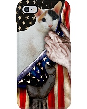 Love Japanese Bobtail Cat United State Flag Phone Case i-phone-8-case