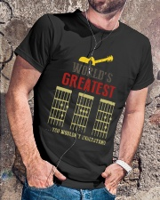WORLD'S GREATEST GUITAR DAD Classic T-Shirt lifestyle-mens-crewneck-front-4
