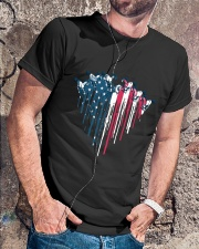 Horse Racing In Heart Flag Classic T-Shirt lifestyle-mens-crewneck-front-4