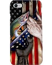 Northern Pike Fishing United State Flag Phone Case i-phone-8-case