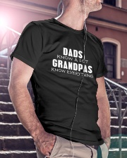 Dad Knows A Lot Grandpas Knows Everything Classic T-Shirt lifestyle-mens-crewneck-front-5