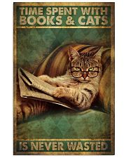 Time Spent With Book And Cat 11x17 Poster front