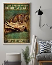 Time Spent With Book And Cat 11x17 Poster lifestyle-poster-1