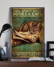 Time Spent With Book And Cat 11x17 Poster lifestyle-poster-2