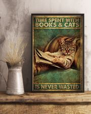 Time Spent With Book And Cat 11x17 Poster lifestyle-poster-3
