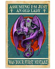 Old Lady Love Purple Dragon 11x17 Poster front