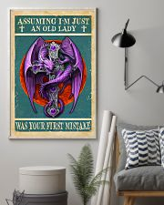 Old Lady Love Purple Dragon 11x17 Poster lifestyle-poster-1