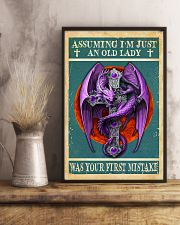 Old Lady Love Purple Dragon 11x17 Poster lifestyle-poster-3