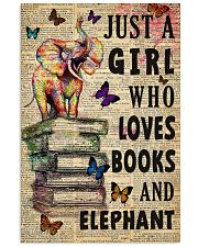 Girl Loves Books And Elephant 11x17 Poster front