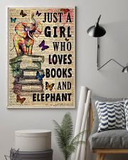 Girl Loves Books And Elephant 11x17 Poster lifestyle-poster-1