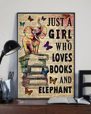Girl Loves Books And Elephant 11x17 Poster lifestyle-poster-2