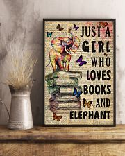 Girl Loves Books And Elephant 11x17 Poster lifestyle-poster-3
