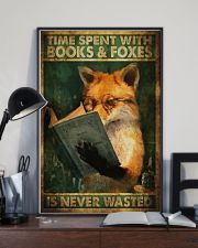 Time Spent With Book And Foxes 11x17 Poster lifestyle-poster-2