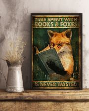 Time Spent With Book And Foxes 11x17 Poster lifestyle-poster-3