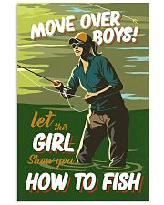 Fly Fishing Move Over Boys 11x17 Poster front