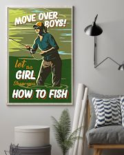 Fly Fishing Move Over Boys 11x17 Poster lifestyle-poster-1