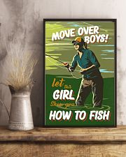 Fly Fishing Move Over Boys 11x17 Poster lifestyle-poster-3