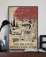 And She Lived Happily Ever After Knitting 11x17 Poster lifestyle-poster-2
