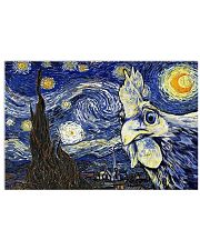 Chicken Starry Night 17x11 Poster front