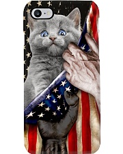 Love Russian Blue United State Flag Phone Case i-phone-8-case